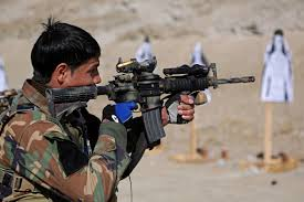 u s department of defense photo essay an afghan army special forces ier fires his weapon at a target during weapons zeroing on