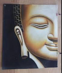 2019 Buddha Head,<b>Pure Handpainted</b> Religion Art Oil Painting <b>Wall</b> ...