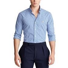 <b>Рубашка узкого</b> покроя в клетку из поплина Polo Ralph Lauren ...
