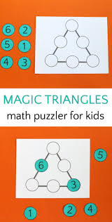 best ideas about problem solving mindfulness for can your kids solve the magic triangle math puzzle maths rfflogic mathlogic problems