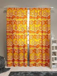 Купить комплект штор «Тимор-К» оранжевый, желтый/золото по ...