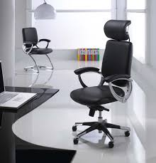 dark color for modern office chairs on sleek floor and cool desk model plus laptop beautiful modern office desk
