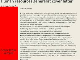 human resources generalist cover letter sample how to write a cover letter to human resources
