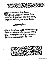 a n c h o r a anonymous marlowe shakespeare would also insert a purposefully garbled version of the poem as a song into the merry wives of windsor first published in 1602