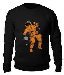 Свитшот унисекс хлопковый <b>Оранжевый космонавт</b> #2631606 от ...