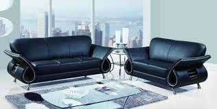 contemporary black leather living room sofa wcurved arms black leather living room