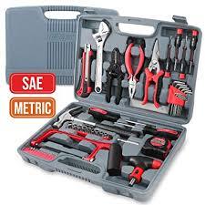 <b>Hi</b>-<b>Spec</b> 53 Piece Household Tool Kit with Claw Hammer, Hack Saw ...