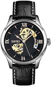 <b>SKMEI</b> 9223 Silver Black Simple <b>Men's</b> Clock <b>Man Automatic</b> ...