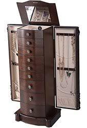 giantex wood jewelry cabinet armoire box storage chest stand organizer necklace amazoncom antique jewelry armoire