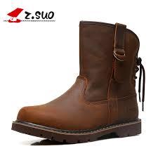 Z.SUO Brand 992 <b>Men's Autumn</b> Crazy <b>Horse</b> Leather Martin <b>Boots</b> ...