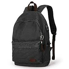 Amazon.com: Muzee <b>Canvas Backpack</b> with <b>USB</b> Charging Port for ...