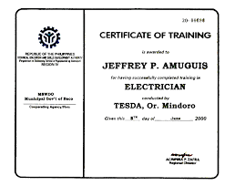certificates of my achievements and recognitions electrical jpg