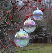rainbow bubbles set of 3 bubble hand blown glass