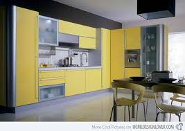 modular kitchen colors: gray yellow  miro miro gray yellow