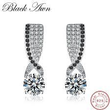 [<b>BLACK AWN</b>] <b>Genuine 925</b> Sterling Silver Jewelry Black Spinel ...