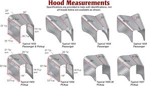 ford early v specifications page macs auto parts ford early v8 hood measurements drawings