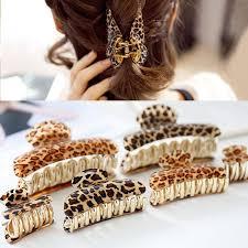 SE <b>Korean Acrylic Hair</b> Claw Leopard Hair Clips Wertical Clip Hair ...