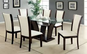 Round Dining Room Table And Chairs Large Round Glass Dining Table And Black Dining Chairs Seater