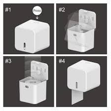 Multifunctional waterproof tissue box toilet paper tube free flushing ...