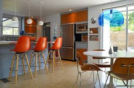 view in gallery beautiful midcentury kitchen with natural textures and bold color beautiful mid century modern