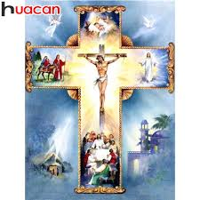 <b>HUACAN Full Square Diamond</b> Painting Religion 5D Diamond ...