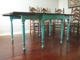 Teal Dining Room Chairs European Paint Finishes Teal Dining Table Amp Ladderback Chairs