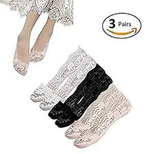 Low Cut Socks <b>Women</b> lace liner socks Cotton <b>silicone non</b>-<b>slip</b> girls ...