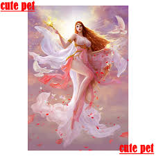<b>cute</b> pet DIY <b>Peace dove</b> goddess diamond painting Full drill ...