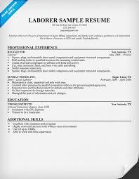 laborer resume general labour resume sample