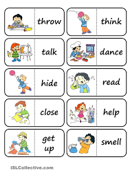 action words domino esl vocabulary action verbs action words domino