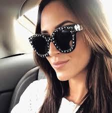 fashion oversize women square sunglasses brand designer classic summer style double colors flat top frame eyewear
