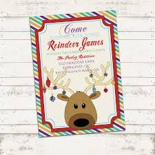 valerie pullam designs custom christmas party invitation x custom christmas party invitation 7x5 printable reindeer games holiday birthday party