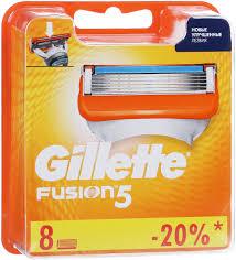 <b>Сменные Кассеты</b> Gillette Fusion5 Для Мужской <b>Бритвы</b>, 8 шт ...