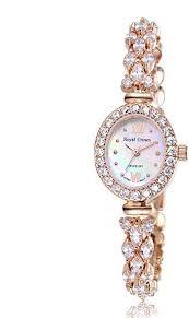 RC ROYAL CROWN Women's Quartz <b>Watch Luxury Rose Gold</b> ...
