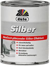 <b>Эмаль универсальная</b> серебристая жаростойкая <b>düfa</b> SILBER ...