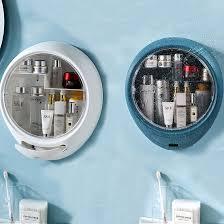 No punching <b>Wall</b>-<b>mounted Cosmetic storage box</b> Waterproof and ...