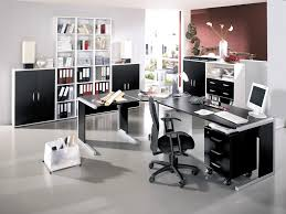 contemporary home office traditional desc conference chair brown wall unit bookcases silver metal filing cabinets supply storage decorative desk lamps brown metal office desk