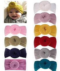 DANMY <b>Baby Girl</b> Nylon Headbands <b>Newborn Infant Toddler</b>