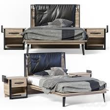 3d модели: <b>Кровати</b> - <b>Cilek Wood Metal</b> Line Bed