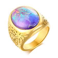 2019 Fashion <b>Blue Stone Casting Rings</b> Men Ring Stainless Steel ...