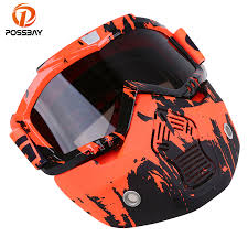 <b>POSSBAY</b> 13Type <b>Motorcycle</b> Goggles Open Face Helmet ...