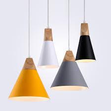 <b>Modern Wood Pendant</b> Lights <b>LED</b> Hanglamp Colorful <b>Pendant</b> ...