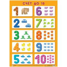 Плакат <b>Мозаика</b>-<b>Синтез</b> Счет до - Детские <b>обучающие плакаты</b>