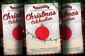 christmas party flyer template v2 flyer templates on creative market christmas event flyer template