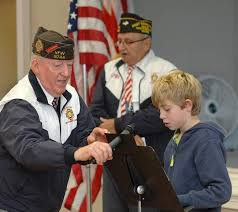 marshwood students participate in program honoring local veterans   veterans local scout troop and marshwood great works school students anna haggerty owen clark and jacob zakian read original essays on veterans day