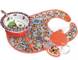 <b>Petit Jour</b> Набор детской <b>посуды</b> Elmer с нагрудником <b>Petit Jour</b> ...