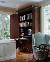 waverly desk elegant home office photo in boston with beige walls and a built in desk black middot office