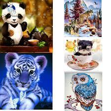 <b>JOY SUNDAY 5D DIY</b> Diamond Embroidery Animals Full Diamond ...