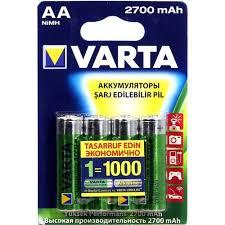 Аккумулятор <b>VARTA</b> Rechargeable ACCU <b>AA</b> 2700mAh 4 шт ...