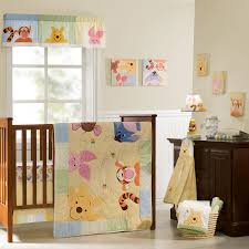 peeking pooh premier 7 piece crib bedding set baby mickey crib set design